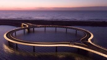 Puente de Laguna Garzón, único puente flotante con forma de anillo en el mundo